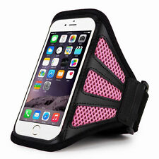 "iPhone 6 4.7"" Pink Mesh Running, Jogging, Cycling Armband Mobile Phone Cover"