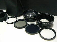 KTW4F BK 52mm Telephoto,Wide,Macro Lens,Filter For Canon EOS M M2 M3 w/18-55mm