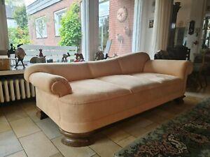 Couch, Sofa, Chaiselounge, 50er Jahre, neu gepolstert 2,20 m breit, 98 cm tief