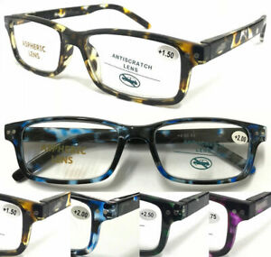S882 Superb Quality Classic Reading Glasses/Spring Hinges/Colorful Tortoiseshell