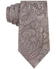 Michael Kors 100% Silk Brown Fine Flourish Paisley Neck Tie $65