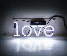"""""""LOVE"""" Neon Sign Wall Store Decor Display Beer Real Glass Handmade Porcelain"""
