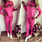 2Pcs Women's Tracksuit Hoodie Sweatshirt Pants Sets Sport Wear Heart Casual Suit