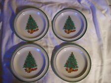 "Anchor Hocking ""Holiday Magic""~Salad Plates Set of 4~stoneware~Christmas Table"