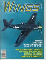 Wings Magazine October 1994 , Monoplane Fighters , Boening, Luftwaffe Airplane
