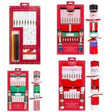 Create Colour and Personalise Your Own Christmas Crackers Pack Of 6 Elf Santa