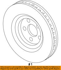 FORD OEM Front Brake-Disc Rotor DG1Z1125C