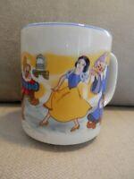 Disney Snow White & Seven Dwarfs Cup Mug, Blue Rim, Disneyland, Disney World