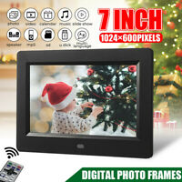 7in HD Digital Photo Frame Album Electronic Picture Movie Player Remote Control