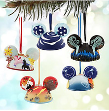 LE Disney Christmas Ear Hat Ornament Set✿Fantasia Mickey Chernabog✿$150 retail