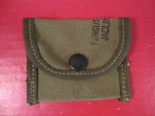 WWII Era US Army Browning M1919 Canvas Spare Parts Pouch - Dated 1945 - Unissued