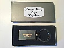 Aviator Wing Logo Keychain. GREAT GIFT IDEA! PILOT,Aviation,helicopter, airplane