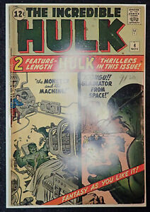 HULK #4 INCREDIBLE 1963 KEY!