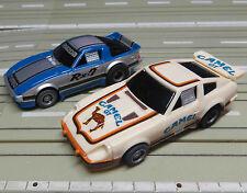 für H0 Slotcar Racing Modellbahn -- Datsun 280 ZX + Mazda RX 7 mit Tyco Motor