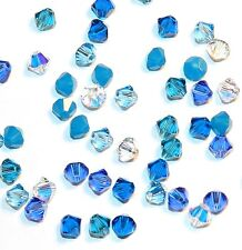 SCB3504f GLACIER MIX Blue 4mm Bicone Swarovski Crystal Bead Assortment 48/pkg