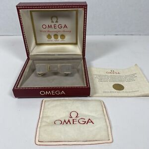 Omega Red Leather Vintage Watch Box