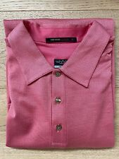 TIGER WOODS COLLECTION Nike Fit Dry Mens Golf Polo Shirt Sz XL Light Pink NEW