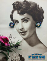 VINTAGE 1950s OPALINE GLASS AURORA BOREALIS RHINESTONE CLIP EARRINGS BRIDAL GIFT