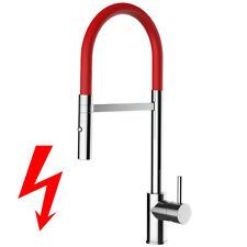 NIEDERDRUCK rot Spültischarmatur Wasserhahn Küche Einhebelmischer Handbrause