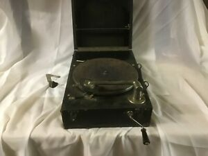 Vintage cliftophone portable record player