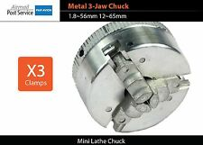 Mini lathe Metal 3-Jaw Chuck clamps 1.8~56mm 12~65mm Z011