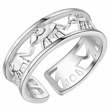 Adjustable Male Female 925 Silver Ring New - Elephants Ring Jewelry