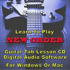 New Order Guitar Tab Lesson Cd Software - 31 Songs