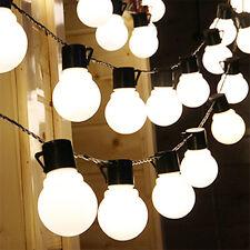2m Outdoor Solar Powered Night Bulb String Light 10 LED Lights Yard Garden Lamp White