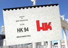 HECKLER & KOCH HK HK94 94 SEMI AUTO Rifle Owners Instruction & Takedown Manual
