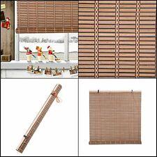 "Natural Bamboo Roll Up Window Blind Roman Shade Sun Shade WB-A016 (W30"" X H72"")"