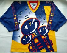 New Men's Pro 52 1996 St Louis Blues Trumpets Custom Clone Jersey w/fight strap