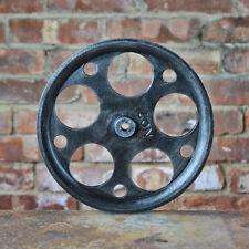 "Pulley Wheel - 10"" Antique Black - Metal Pulley - Cast Industrial Wheel"