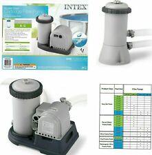 Intex Krystal Clear Cartridge Filter Pump for Above Ground Pools 110-120V + GFCI