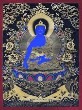 Medicine Buddha - handmade thangka painting from Nepal