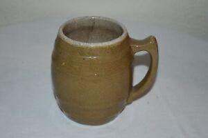"""VINTAGE UHL POTTERY Huntingburg, Ind. Stoneware MUG 4.5"""" tall Coffee cup EUC"""
