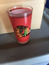 Chicago Blackhawks Stanley Cup Champion Sublimated Pint Glass  2013   set of  2