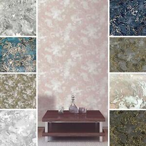 Liquid Marble Wallpaper Debona Metallic Glitter Gold Charcoal Grey White