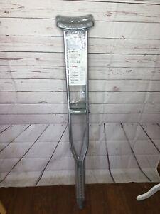 """Breg 100310-000 Lightweight Aluminum Crutches Alum Push Button Tall 5'5"""" to 6'2"""""""