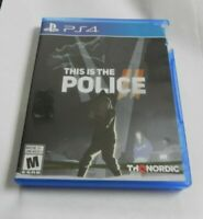 This Is the Police  (Sony PlayStation 4, 2018)  COMPLETE  THQ NORDIC  FAST PS4