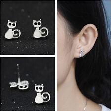 Women Lovely Mnini Cat Earrings Dull Polish Hypoallergenic Ear Stud Jewelry New