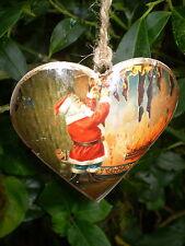 Pretty danés Colgante Vintage Navidad Corazón Decoración, Diseño A6