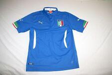 Italy Italia Puma Polo Shirt Men M Blue NEW