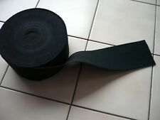 2 Meter Gummiband 85 mm Schwarz -- für Rock, Kleid oder Gürtel--Neuware