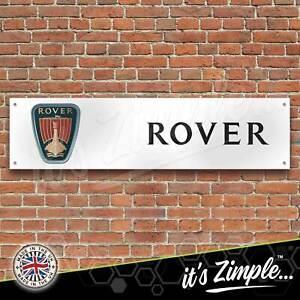 Rover Cars Logo Banner Garage Workshop Sign Printed PVC Trackside Display
