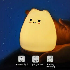 Cute  Colors Change Soft Silicone LED Touch Sensor Light Cute Night Ligh
