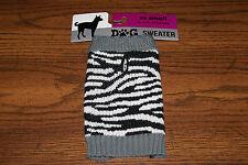 Brand New Zebra XXS Dog Cat Pet Sweater w/ FREE SHIPPING! Help Blind Cat Rescue!