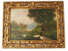 Wunderschönes Landschaftsgemälde mit Burgruine; Toni Bordignon