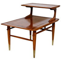 Rare Mid Century Danish Modern Side Step Table Lane Alta Vista No. 652290