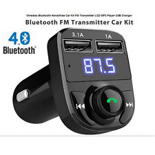 Wireless Bluetooth Handsfree Car Kit MP3 FM Transmitter Charger with LCD Screen