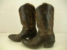 Mens 9 D M Cowtown Brown Exotic Sharkskin Handmade Leather Cowboy Western Boots